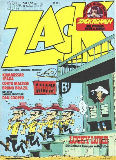 Cover for Zack (Koralle, 1972 series) #16/1974