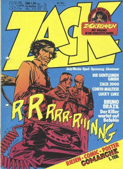 Cover for Zack (Koralle, 1972 series) #18/1974