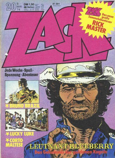 Cover for Zack (Koralle, 1972 series) #20/1974