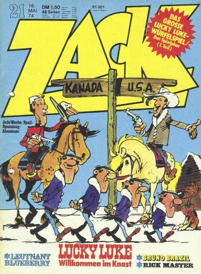 Cover for Zack (Koralle, 1972 series) #21/1974