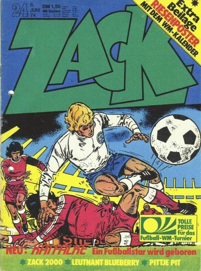 Cover for Zack (Koralle, 1972 series) #24/1974