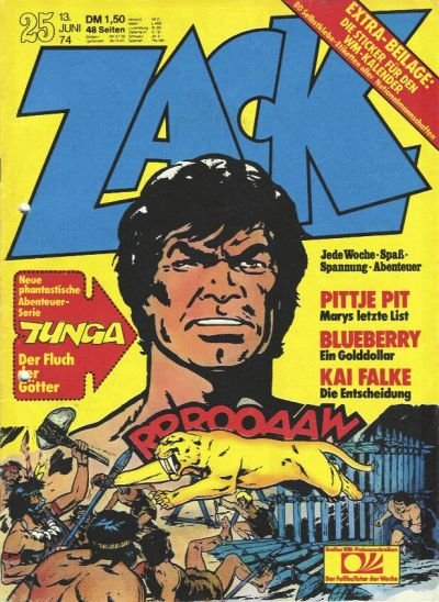 Cover for Zack (Koralle, 1972 series) #25/1974