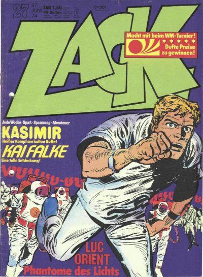 Cover for Zack (Koralle, 1972 series) #27/1974