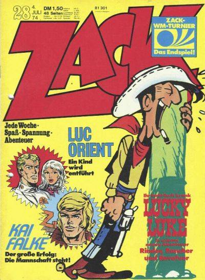 Cover for Zack (Koralle, 1972 series) #28/1974