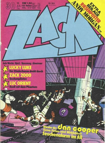 Cover for Zack (Koralle, 1972 series) #30/1974