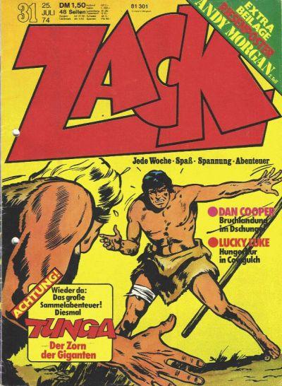 Cover for Zack (Koralle, 1972 series) #31/1974