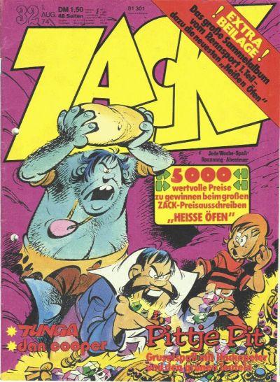Cover for Zack (Koralle, 1972 series) #32/1974