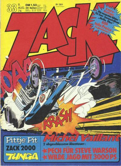 Cover for Zack (Koralle, 1972 series) #33/1974