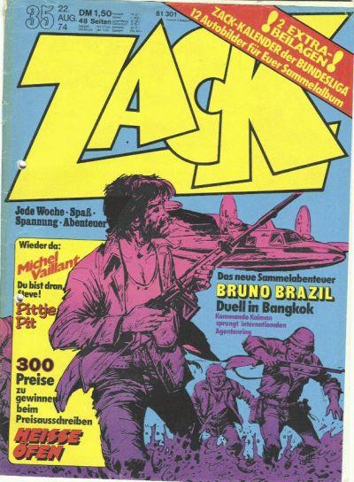 Cover for Zack (Koralle, 1972 series) #35/1974