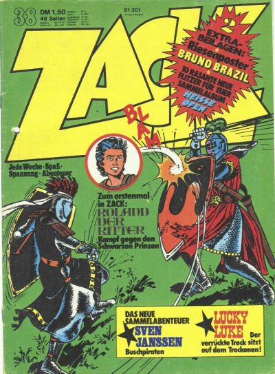 Cover for Zack (Koralle, 1972 series) #38/1974