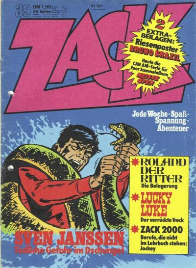 Cover for Zack (Koralle, 1972 series) #39/1974