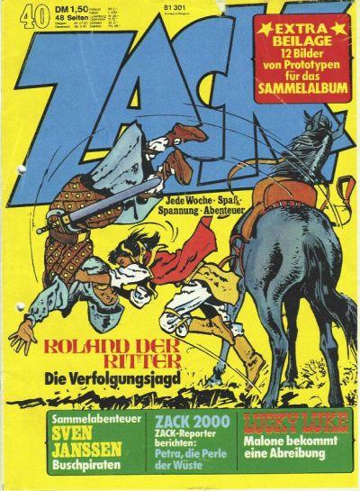 Cover for Zack (Koralle, 1972 series) #40/1974