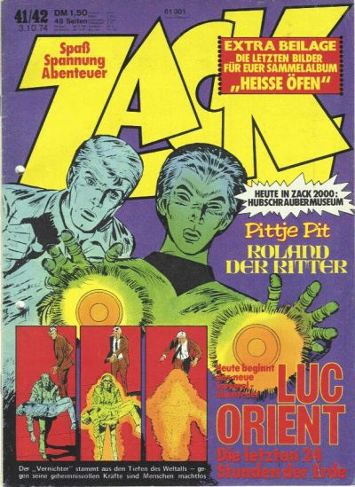 Cover for Zack (Koralle, 1972 series) #41-42/1974