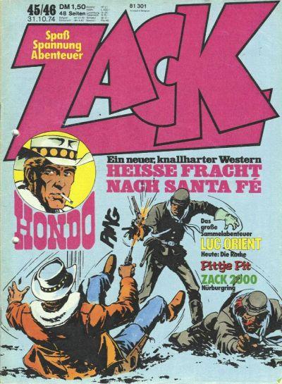 Cover for Zack (Koralle, 1972 series) #45-46/1974