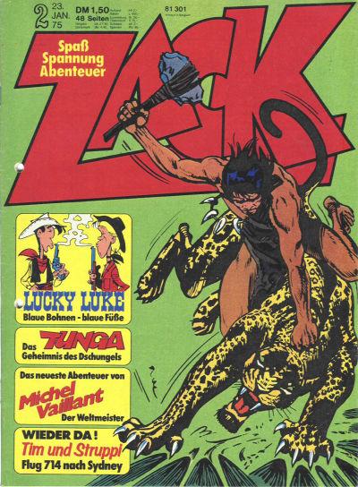 Cover for Zack (Koralle, 1972 series) #2/1975