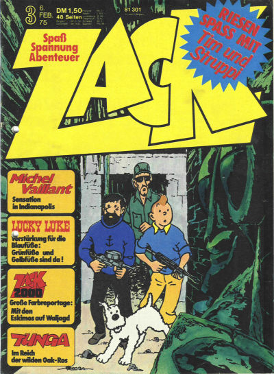 Cover for Zack (Koralle, 1972 series) #3/1975
