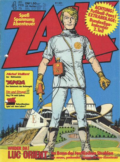 Cover for Zack (Koralle, 1972 series) #4/1975