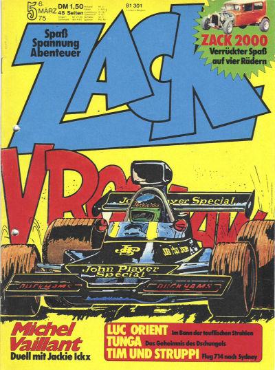 Cover for Zack (Koralle, 1972 series) #5/1975
