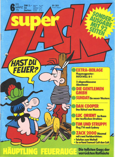Cover for Zack (Koralle, 1972 series) #6/1975