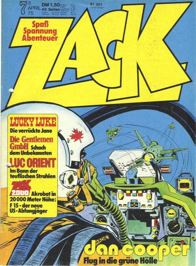 Cover for Zack (Koralle, 1972 series) #7/1975