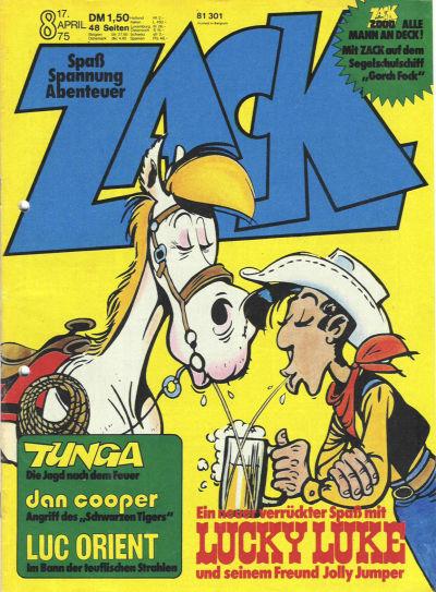 Cover for Zack (Koralle, 1972 series) #8/1975