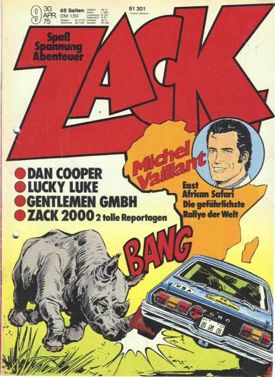 Cover for Zack (Koralle, 1972 series) #9/1975