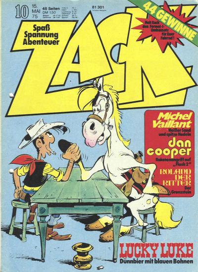 Cover for Zack (Koralle, 1972 series) #10/1975