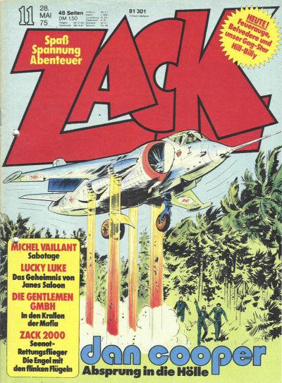 Cover for Zack (Koralle, 1972 series) #11/1975
