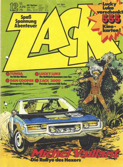 Cover for Zack (Koralle, 1972 series) #12/1975