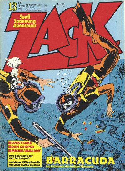 Cover for Zack (Koralle, 1972 series) #13/1975