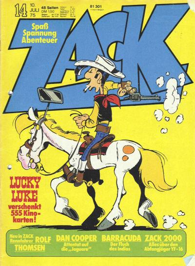 Cover for Zack (Koralle, 1972 series) #14/1975