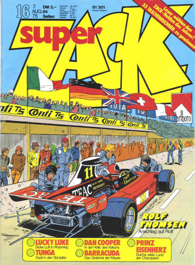 Cover for Zack (Koralle, 1972 series) #16/1975