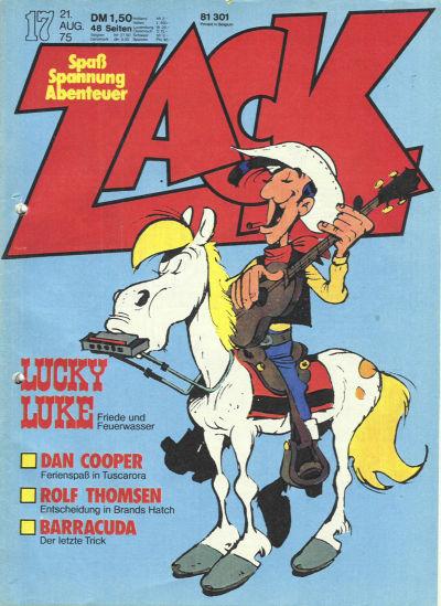 Cover for Zack (Koralle, 1972 series) #17/1975