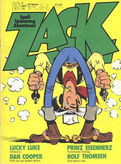 Cover for Zack (Koralle, 1972 series) #18/1975