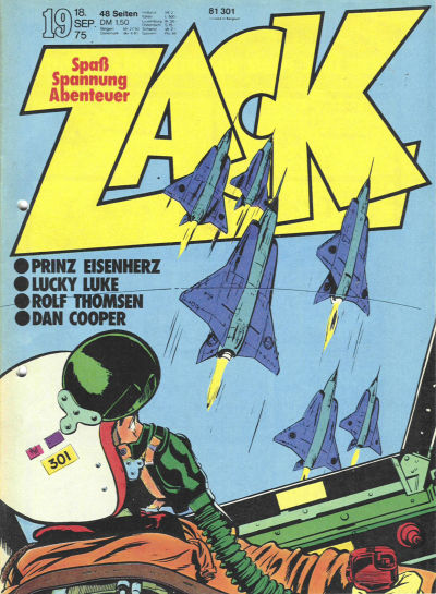 Cover for Zack (Koralle, 1972 series) #19/1975