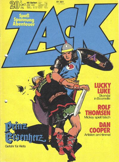 Cover for Zack (Koralle, 1972 series) #20/1975