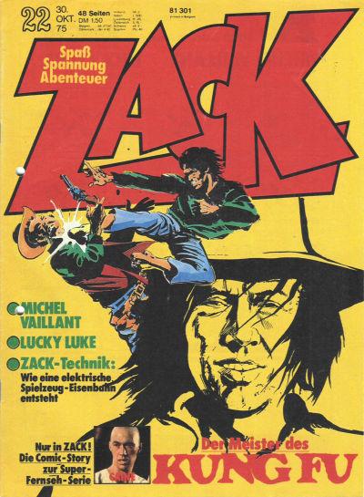 Cover for Zack (Koralle, 1972 series) #22/1975