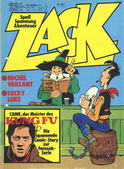 Cover for Zack (Koralle, 1972 series) #23/1975
