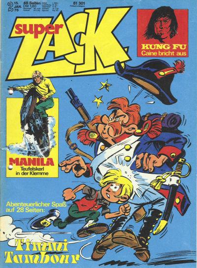 Cover for Zack (Koralle, 1972 series) #2/1976