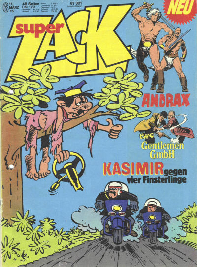 Cover for Zack (Koralle, 1972 series) #6/1976