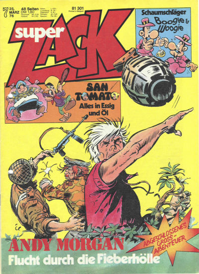 Cover for Zack (Koralle, 1972 series) #7/1976