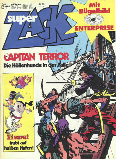 Cover for Zack (Koralle, 1972 series) #8/1976