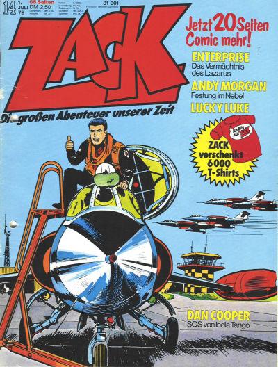 Cover for Zack (Koralle, 1972 series) #14/1976