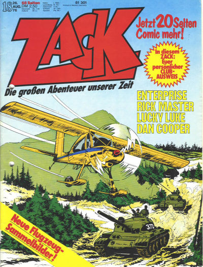 Cover for Zack (Koralle, 1972 series) #18/1976