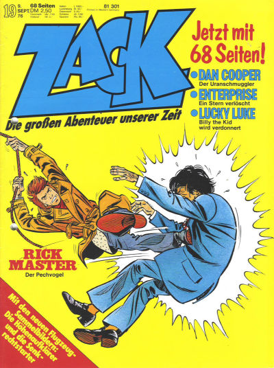 Cover for Zack (Koralle, 1972 series) #19/1976