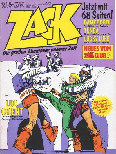 Cover for Zack (Koralle, 1972 series) #20/1976