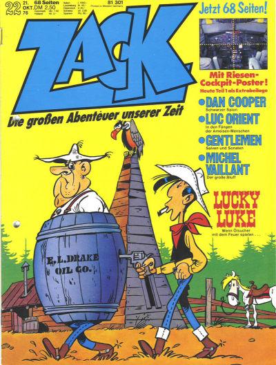 Cover for Zack (Koralle, 1972 series) #22/1976