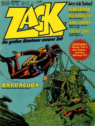 Cover for Zack (Koralle, 1972 series) #24/1976