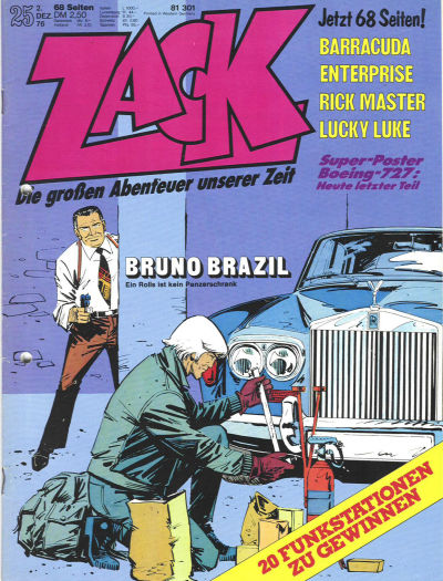 Cover for Zack (Koralle, 1972 series) #25/1976