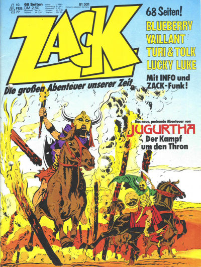 Cover for Zack (Koralle, 1972 series) #4/1977